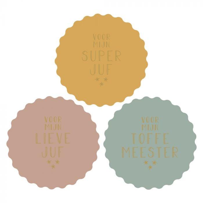 Stickers Juf - Meester (9st)