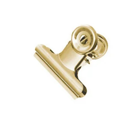 Bulldog clip goud S (2st)