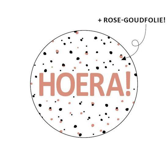 Sticker Hoera (10st)