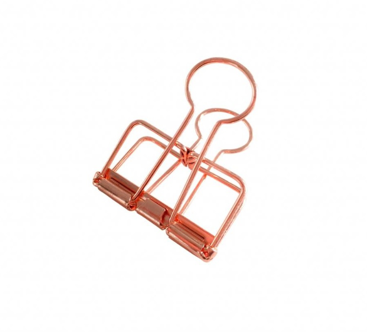 Clips rosegoud M (2st)