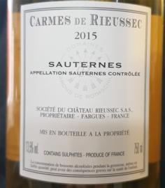 Carmes de Rieussec Sauternes 2015