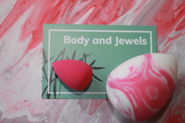 Marble Beauty Blender Set Roze/Wit