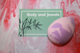Beauty blender marble Paars/Baby Roze