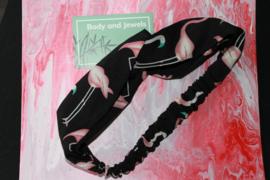 Haarband Twist Flamingo Zwart