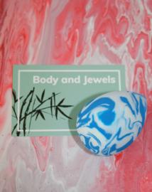 Beauty blender marble Blauw