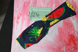 Haarband Twist Ananas Watermeloen Print