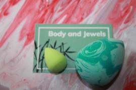 Marble Beauty Blender Set Groen/Mint