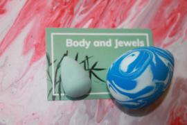 Marble Beauty Blender Set Blauw/Wit