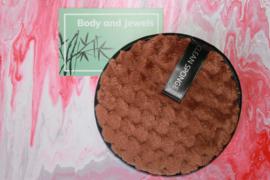 Wasbare Make-Up Pad Bruin