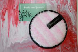 Wasbare Make-Up Pad Wit/Roze