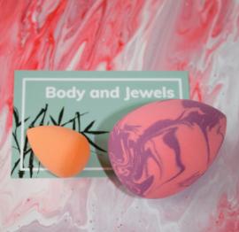 Marble Beauty Blender Set Paars/Roze