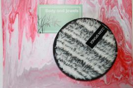Wasbare Make-Up Pad Wit/Grijs