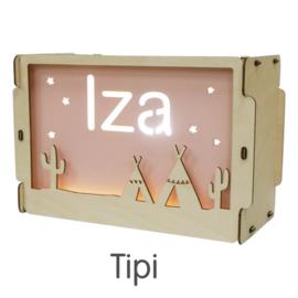 Naamlamp met thema