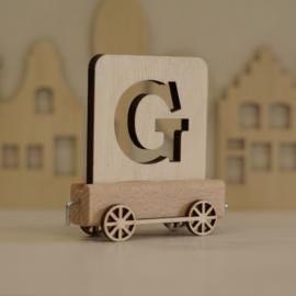 G | Houten lettertrein