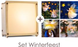 Toverlamp + 4 winterafbeeldingen