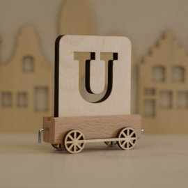 U | Houten lettertrein