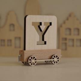 Y | Houten lettertrein