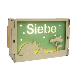 Thema Lampe mit Name