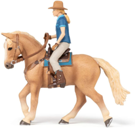 Paard en cowgirl - Papo 51566
