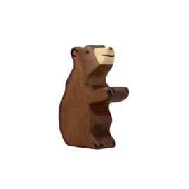 Bruine beer klein zittend Holztiger