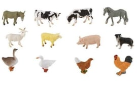 BOERDERIJDIEREN  set met 12 dieren CollectA 89111
