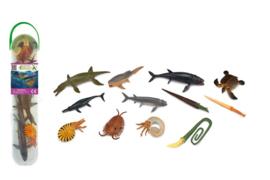 Prehistorische  ZEEDIEREN    mini  set  met 12  ex.