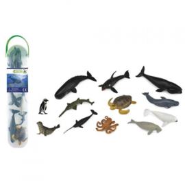 ZEEDIEREN B  mini set met 12 dieren