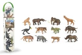 Prehistorische ZOOGDIEREN   mini set met 12 ex