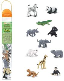 Dierentuin dieren baby's set S680004