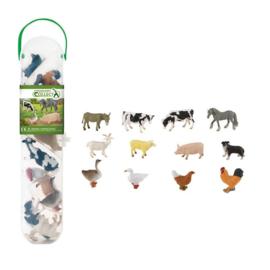 BOERDERIJ DIEREN mini set met 12 dieren