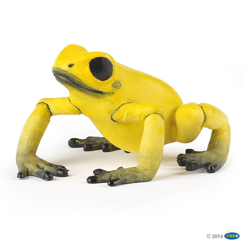 Gele  Equatoriale  kikker   Papo  50174