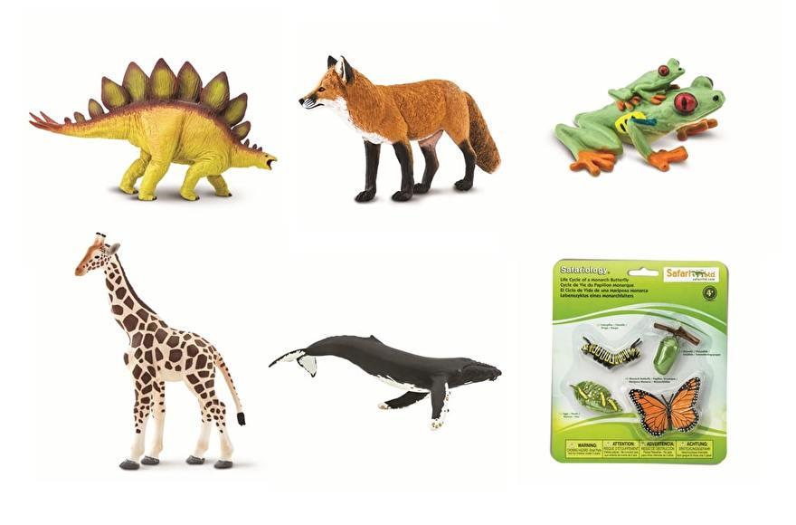 verschillende speelgoed dieren
