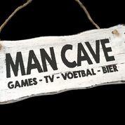 Woodart bordje hangend 12x30cm man cave antique white
