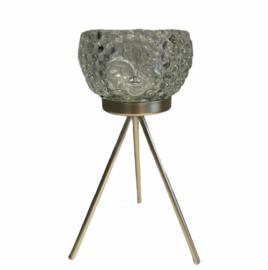 Waxinelichthouder Clayre op gouden onderstel 11 x 20