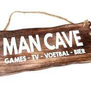 Woodart bordje hangend 12x30cm man cave natural