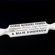 Woodart deegroller 7x40cm goede moeders antique white moederdag