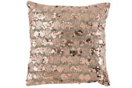 J-Line kussen velvet grijs/roze 45 x 45