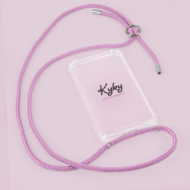 Kyky telefoonketting pretty in pink  stunning silver.