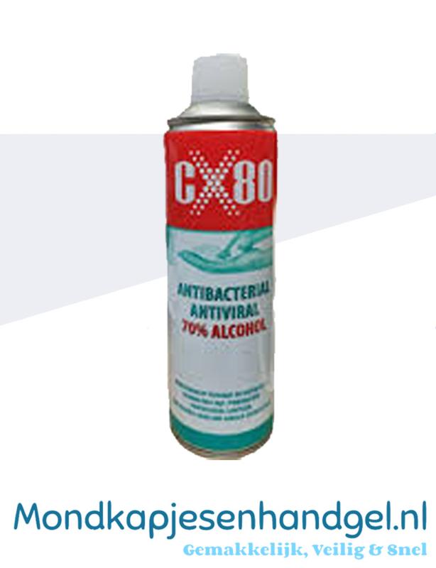 Hand- en oppervlakdesinfectievloeistof 500ml CX80 spray