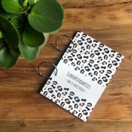 Geboortekaarten bundel | bewaarbundel | leopard ecru