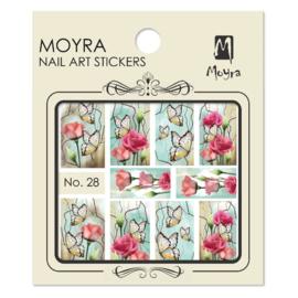 Moyra Nail Art Sticker Watertransfer No 28