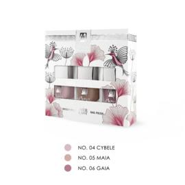 """Moyra Nail Polish Gift Set """"Nude"""" 3x7ml"""