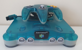 Nintendo 64 Clear Blue Console Set