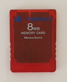 PS2 Memory Card Transparent Red