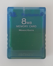 PS2 Memory Card Clear Blue