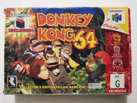 N64 Donkey Kong 64 Collector's Edition Yellow Game Pak (CIB) AUS - With Expansion Pak -