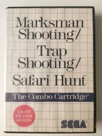 Master System Marksman Shooting/ Trap Shooting/ Safari Hunt (Box + Cart)