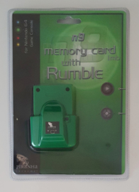 Piranha Extreme n9 Memory Card 1mb with Rumble Green (New)