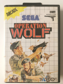 Master System Operation Wolf (Box + Cart)