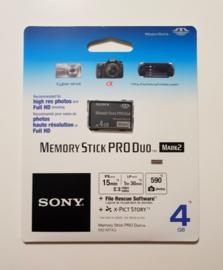 Memory Stick Pro Duo 4GB Mark 2 (new)
